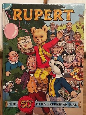 Rupert Bear The 50th Daily Express Annual hard back. some wear