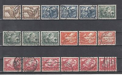 3. Reich Lot of Wagner Stamps 1933 used