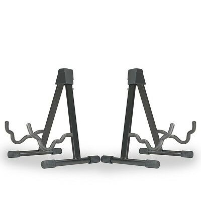 Musician's Gear A-frame Stand for Acoustic Electric and Bass Guitars 2 Pack Blk