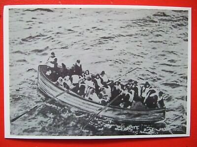 Titanic Postcard- A Lifeboat Of Survivors From The Titanic