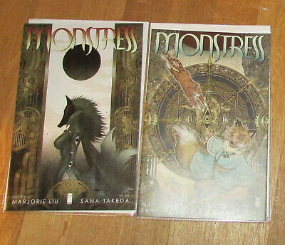 2 Image Comics Monstress Issue 2 & 3 First Print NM Marjorie Liu Santa Takeda