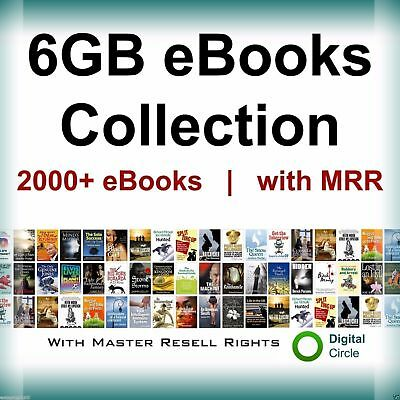 6GB PDF eBooks Collection 2000+ PDF eBooks with Master Resell Rights MRR