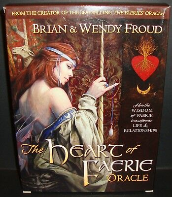 Heart Of The Faerie Oracle Tarot Deck & Book  Complete By Brian Wendy Froud Htf!