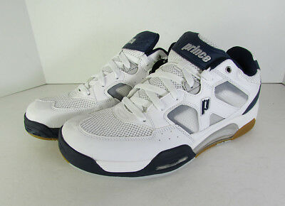 Prince Mens NFS Attack Squash Sneaker Shoes, White/Navy/Silver, US 7.5