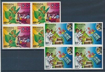 [90594] Rwanda good imperforated set in blocks of 4 Very Fine MNH stamps