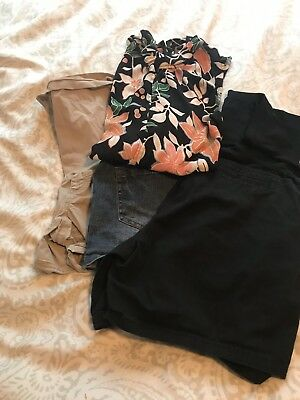 Lot Of Maternity Summer Clothes Top & 3 Shorts