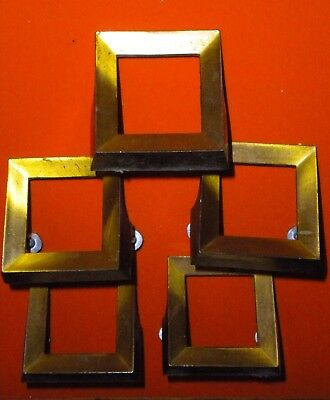 "Lot of 5 2"" x 2"" Mid century modern vintage drawer pulls (from a sewing cabinet)"