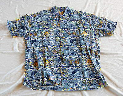 Kahala Sailfish Hawaiian shirt, made in Hawaii XL