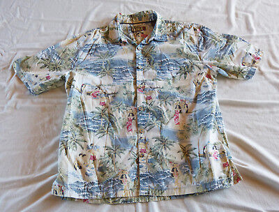 """Kahala 1936"" Hawaii scenes Hawaiian shirt XL"