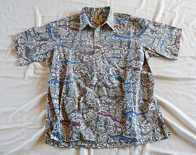 Kahala Sharks Hawaiian shirt, made in Hawaii XL