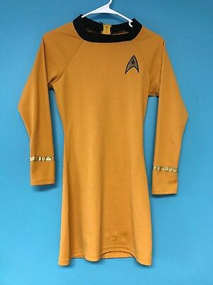 Rubies Captain Kirk Star Trek Gold XL Costume Shirt Cosplay Halloween Made USA