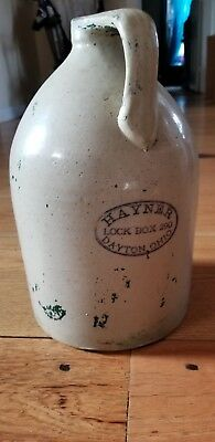 Antique stoneware Wiskey jug-  HAYNER. DAYTON OHIO markings