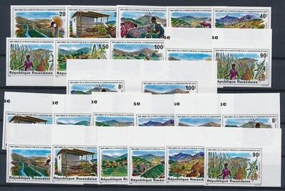 [G89608] Rwanda 3x good imperforated set Very Fine MNH stamps
