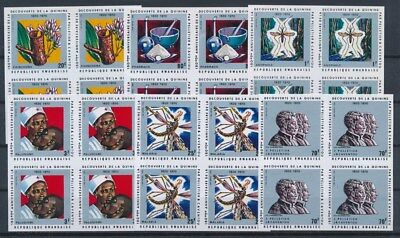 [G89614] Rwanda good imperforated set Very Fine MNH stamps in blocks of 4