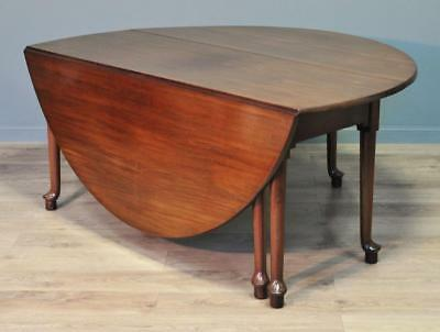 Attractive Very Large Antique Solid Mahogany Drop Flap Dining Table, Sits 8-10