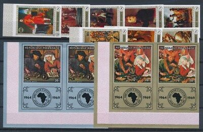 [G89634] Rwanda good imperforated lot Very Fine MNH stamps