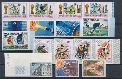 [G89662] Senegal good imperforated lot Very Fine MNH stamps