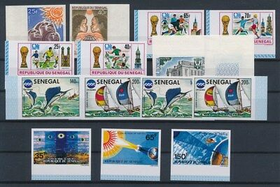 [G89663] Senegal good imperforated lot Very Fine MNH stamps