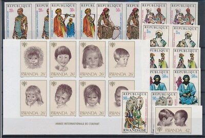 [G89665] Rwanda good imperforated lot Very Fine MNH stamps