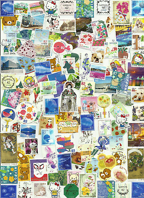 Kiloware Japan 400 used stamps off paper ¡ALL DIFFERENTS!! ONLY years 2017-2018