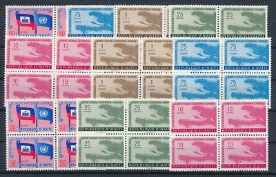 [G89818] Haiti good lot Very Fine MNH stamps