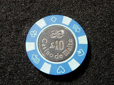 Old Vintage Maltese Casino Chip – £10 Casino de Malte Poker Chip Gambling CIC