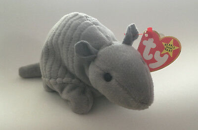 f020e27f0be TY TANK 7 LINE NO SHELL BEANIE BABY - RARE - MINT with MINT TAG ...