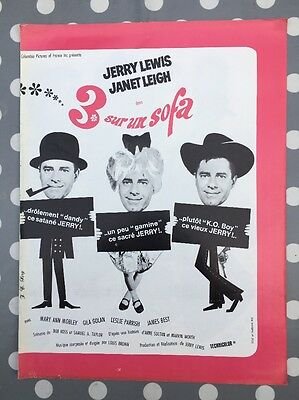 3 SUR UN SOFA avec JERRY LEWIS JANET LEIGH - Synopsis Press-book