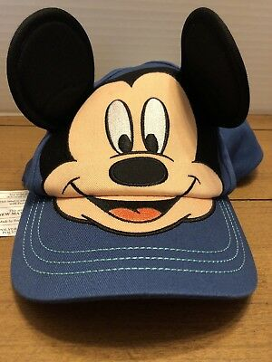Disney Store navy blue Mickey Mouse Baseball Cap Hat Ears - Youth XS/S 3-6yrs