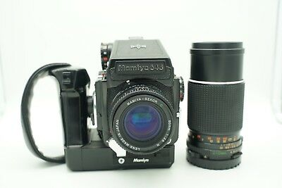 Mamiya M645 1000S with 80mm N lens, 210mm f4, Power Winder, and more.