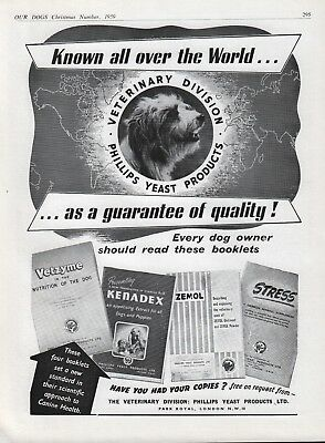 Bearded Collie 1959 Dog Breed Kennel Advert Page Phillips Yeast Products