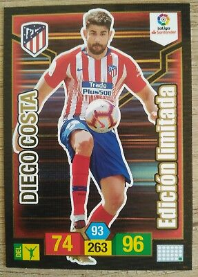 Diego Costa Atlético Madrid Edición Limitada Adrenalyn Xl 2018 2019 18 19