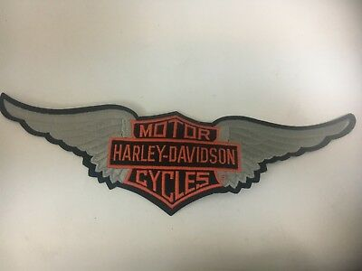 Harley Davidson motorcycles large bar/shield with wings jacket patch 15'' x 5''