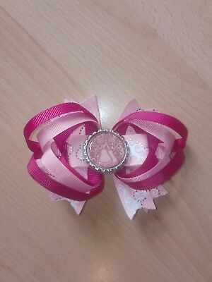 "Pinks Ballet Dance 4"" Kids Girls Stacked Hair Clip 🎀 x1 (ref 47) *NEW* FREE PP"