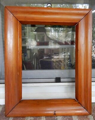 Antique PRIMITIVE AMERICAN Maple Wood OGEE Frame 10 1/8 x 13 5/8 in. fit c1840s