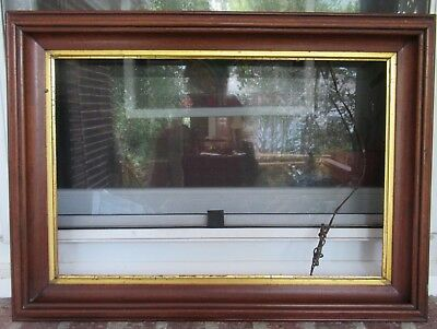 Antique EDWARDIAN Victorian WALNUT Carved Wood FRAME 12 x 18 in. fit c1880-90s
