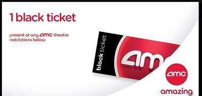 AMC Theaters One Black Ticket