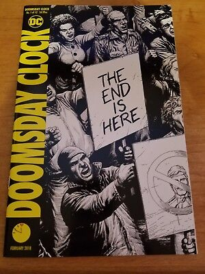 DOOMSDAY CLOCK # 1 GARY FRANK VARIANT COVER DC Comics 2018 NM Black and White