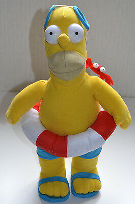 Rare Official The Simpsons / Soft Toy / Homer Simpson / 10 Inch / Swimming Gear