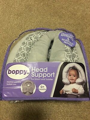 Head Support Noggin Nest Boppy Baby Pink New Gray Tiny Flat S Pad C11