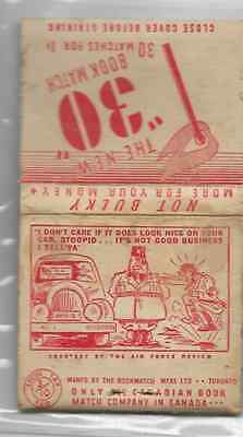 Vintage World War II matchbook 'It's Not Good Business' Hitler Mussolini
