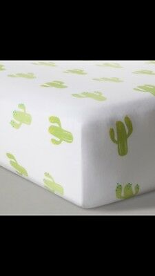 NEW Cloud Island Baby Crib Fitted Sheet - Cactus