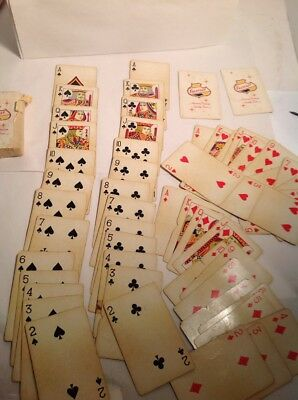 FALSTAFF beer 1950's FULL DECK of PLAYING CARDS jokers and box Vintage Cards