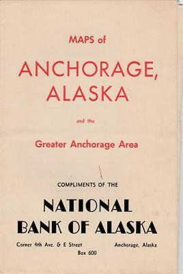 "Lrge Map Anchorage,Alaska & Area 1950~House Lots~Subdivisions~ 22x17""~2 Sided VG"