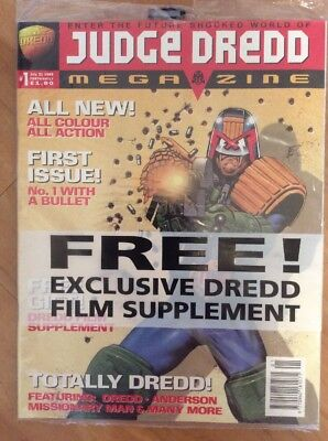 2000 AD Judge Dredd Megazine Volume 3 Issue Numbers 1 - 10 (10 Comic Progs) VGC
