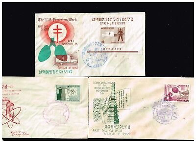 Korea Stamp Fdc Cover Lot Fault