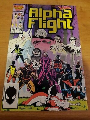 Alpha Flight #33 Marvel Comics Uncanny X-Men 1St App. Lady Deathstrike Vf/nm