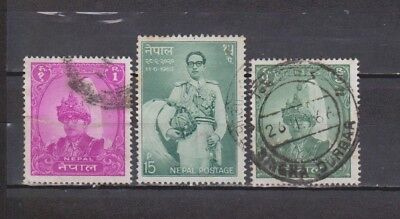 Nepal - 1960-1963 - 3 Stamps (1 With Fault)