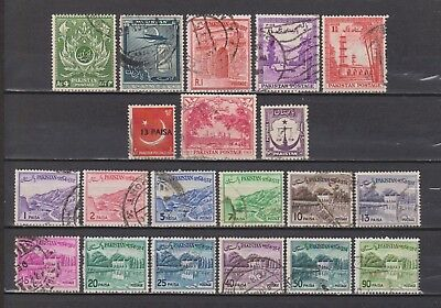 Pakistan - 20 Different Old Stamps