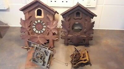 Vintage Clock parts  For Cuckoo Clock For Restoration or Spare / Repair